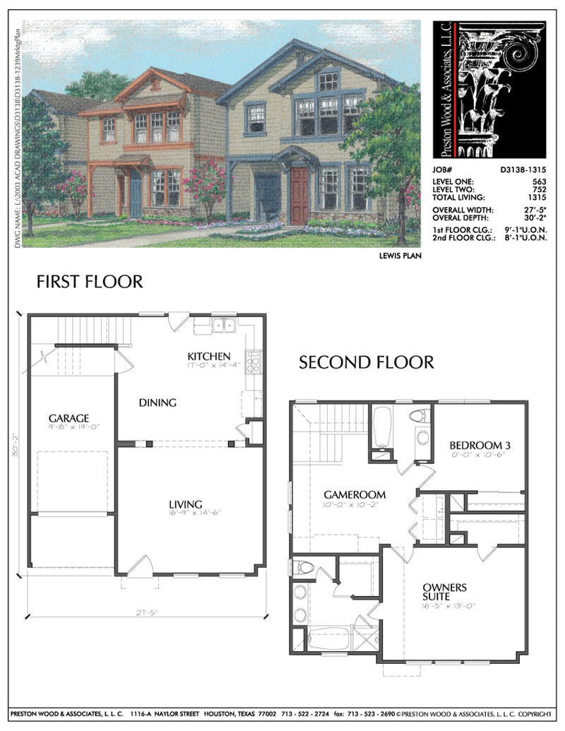 Two Story House Plan D3138