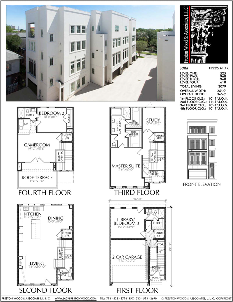 Townhouse Plan E2295 A1.1