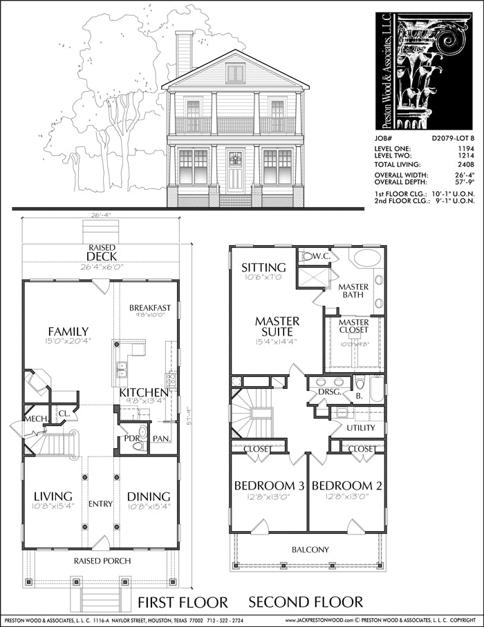 Urban House Plan D2079