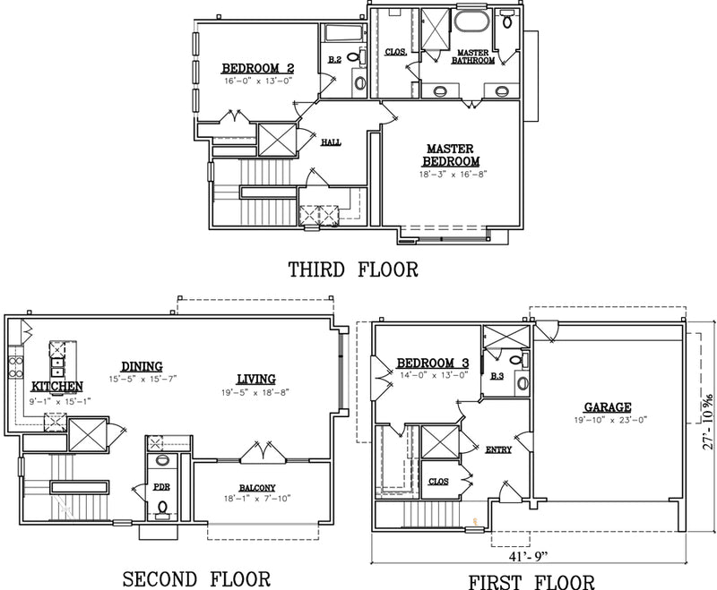 Townhouse Plan X0006-U3