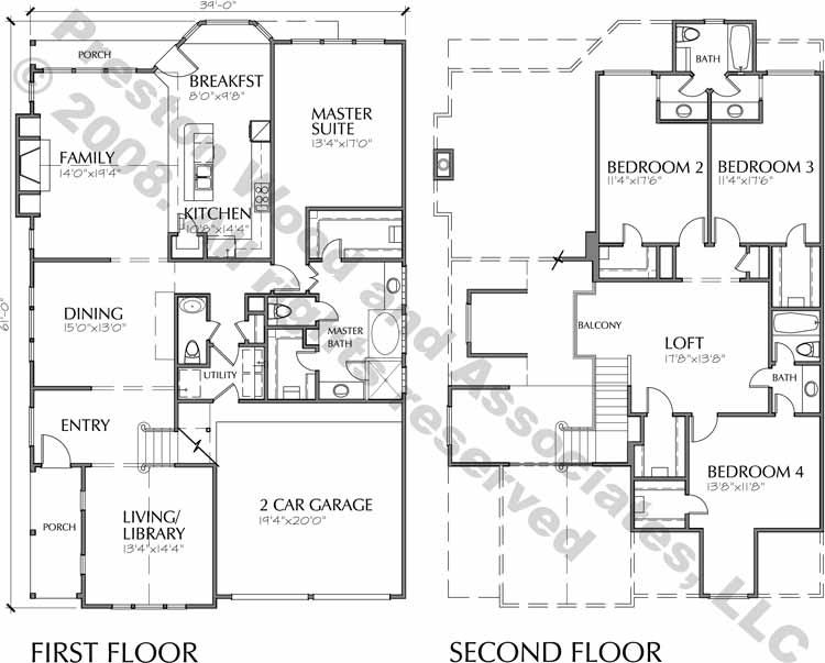 Patio House Plan C6045 A