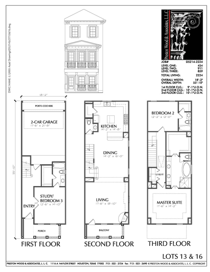 Townhouse Plan D5214-2224