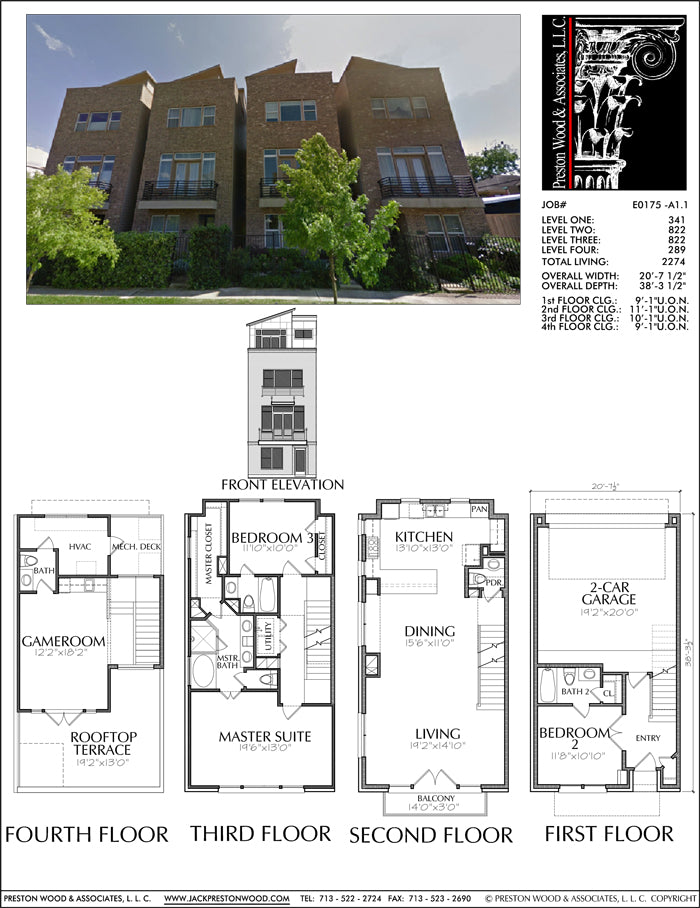 Townhouse Plan E0175 A1.1