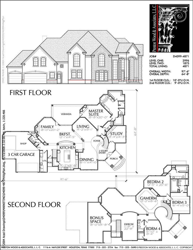 Two Story House Plan D4099