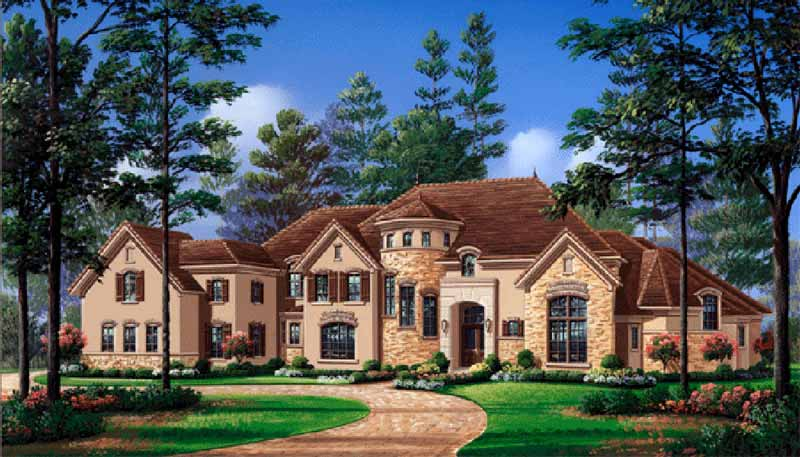 Two Story House Plan D5177