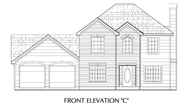 Two Story House Plan C5029