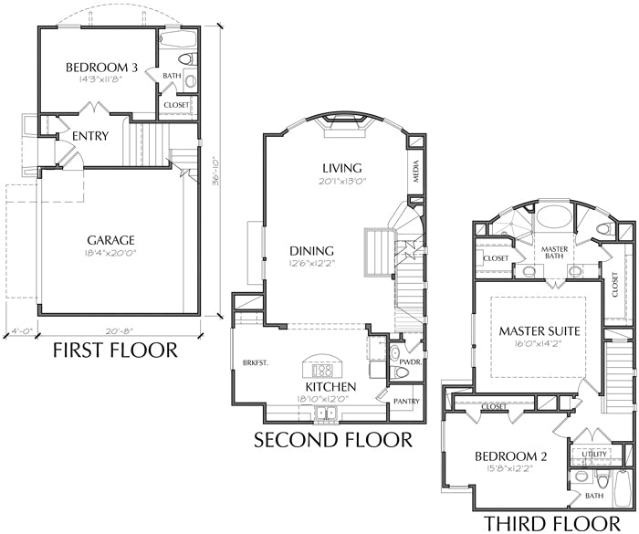Townhouse Plan D3249 C