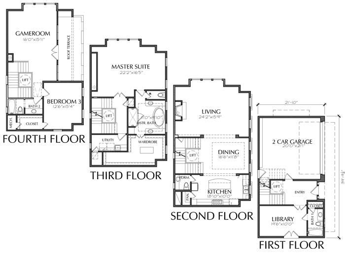 Townhouse Plan E3130 E1.1