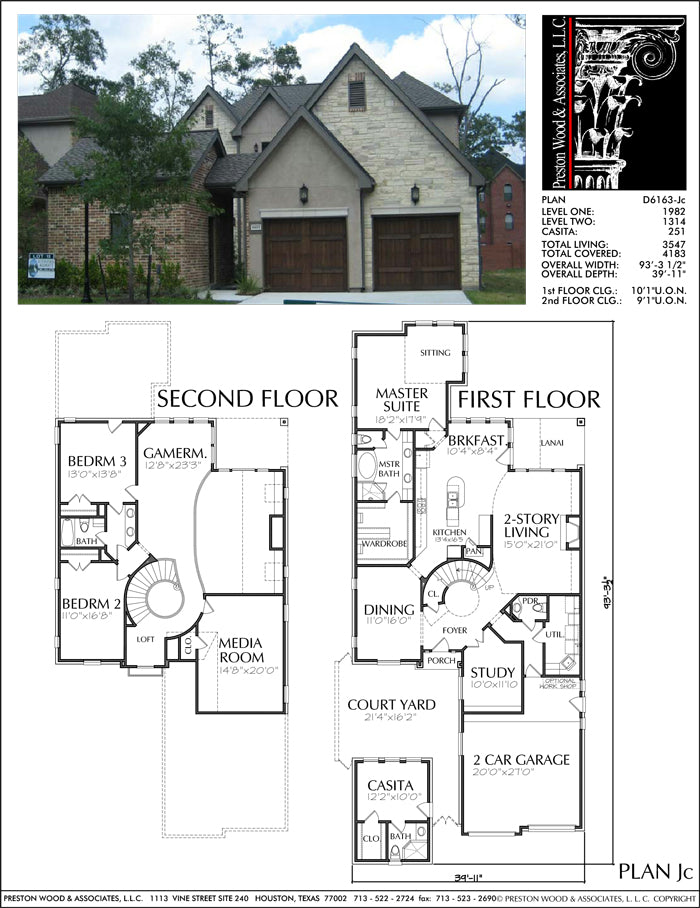 Patio Home Plan aD6163 Jc