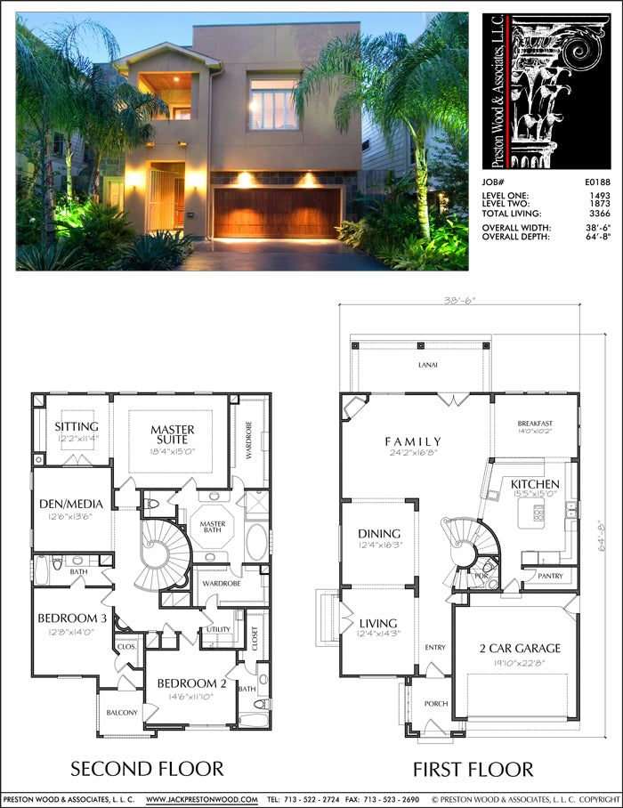Two Story House Plan E0188