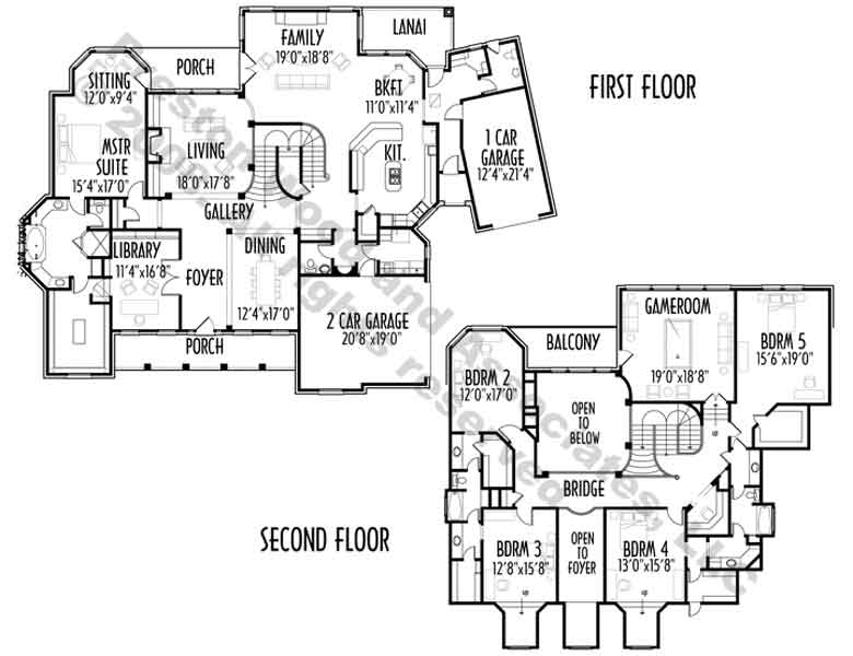 Two Story House Plan C4274