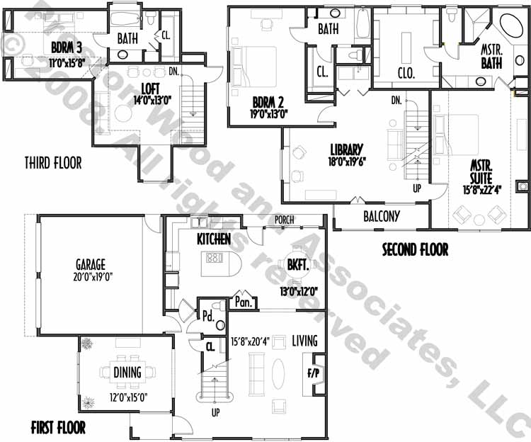 Two Story House Plan C4187 A