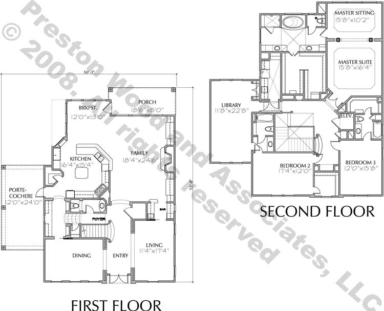 Two Story House Plan D5084