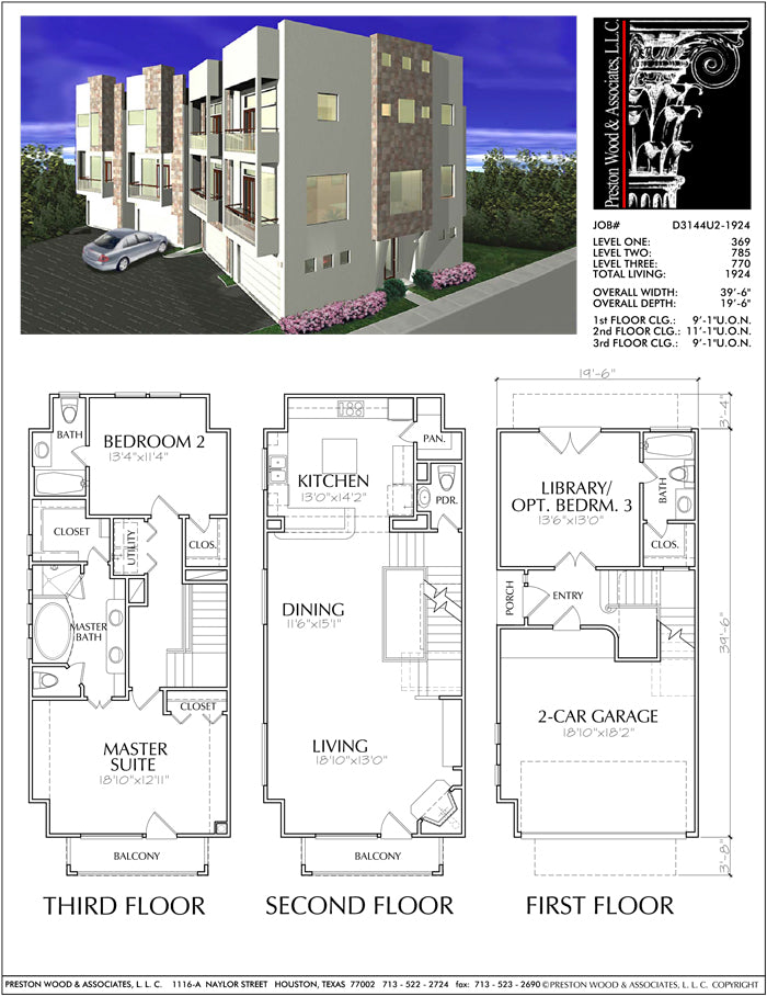Townhouse Plan D3144-1924