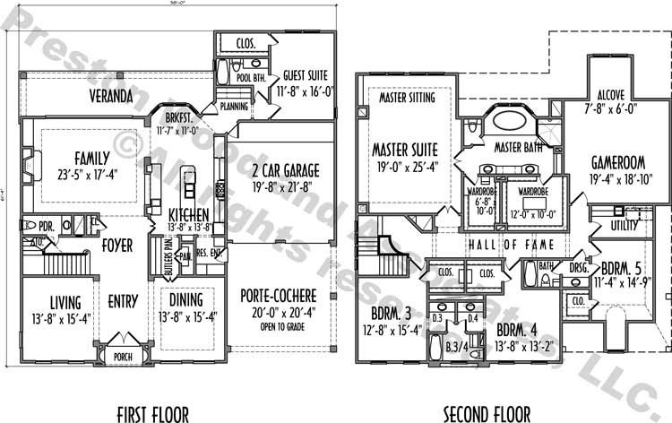 Two Story House Plan D2076
