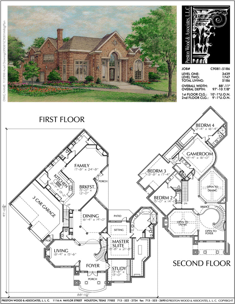 Traditional Style Home Plan C9081