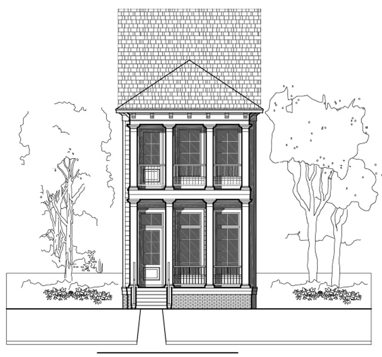 Townhouse Plan E2163 A1.1