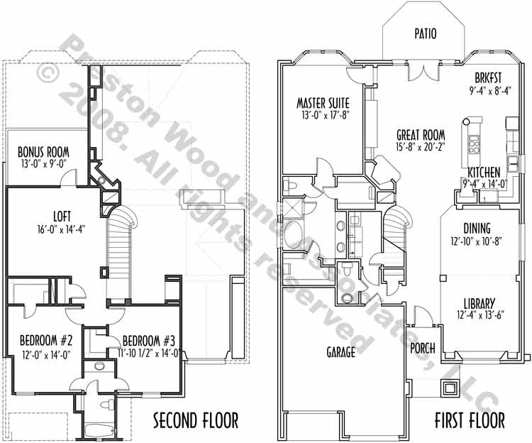 Country Style Home Plan C5230 B
