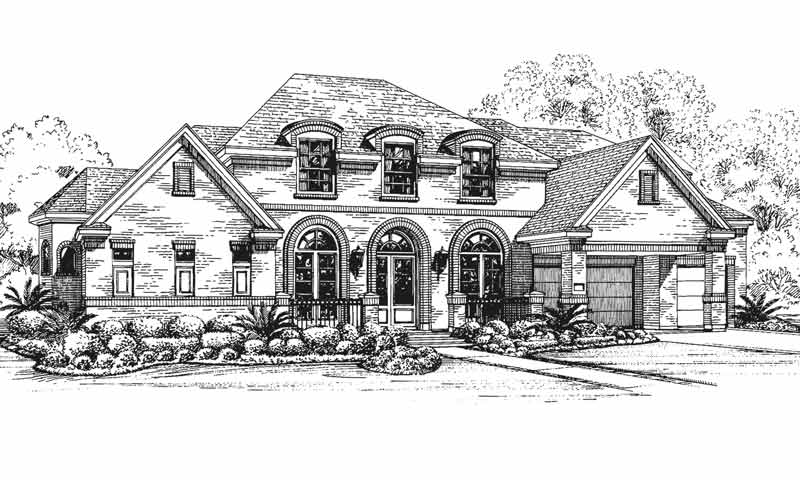 Two Story House Plan C5291