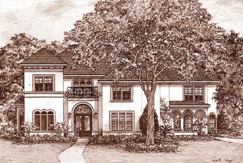 Two Story Home Plan D3080