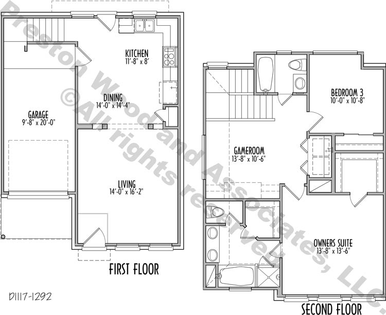 Small House Plan D1117A
