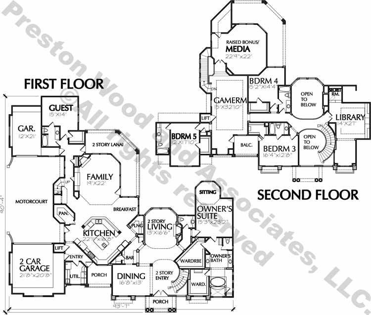 Two Story Home Plan aD4017