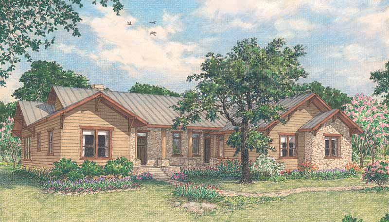 One Story Home Plan D1215