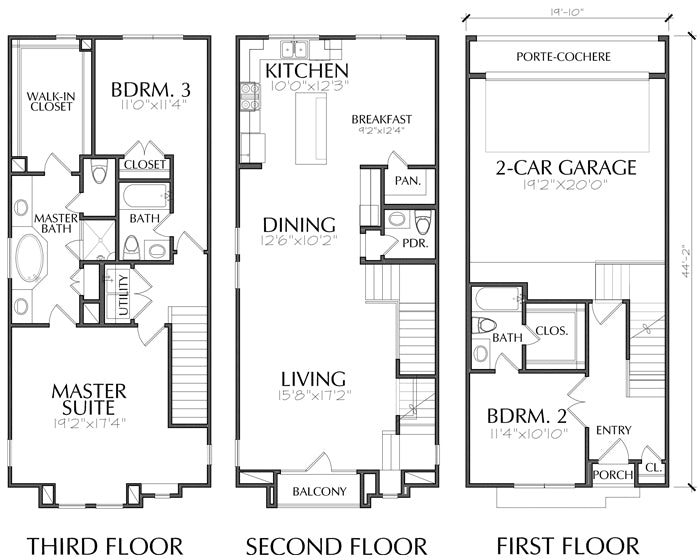 Townhouse Plan E0036 A1