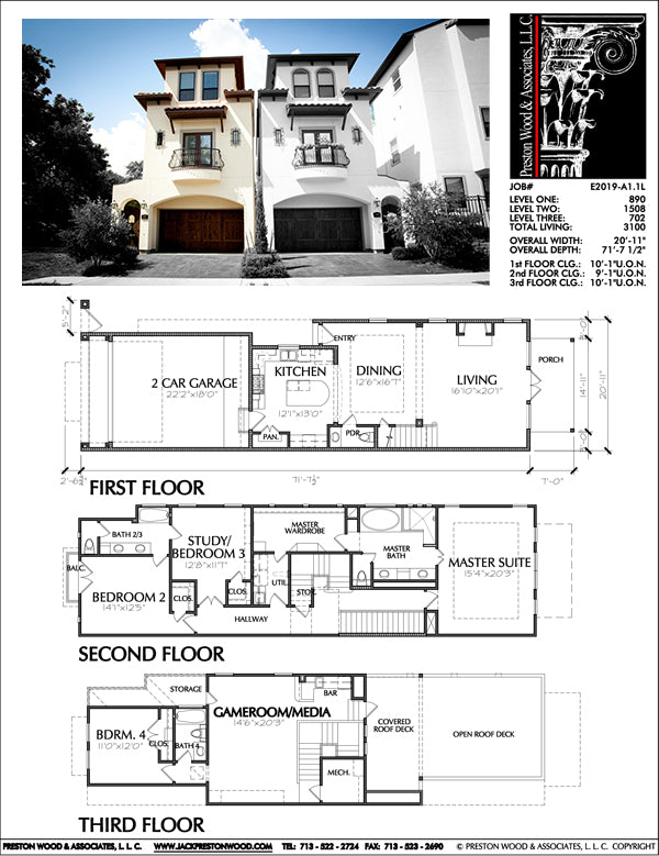 Townhouse Plan E2019 A1.1