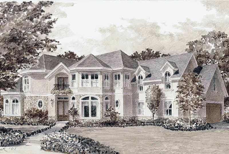 Traditional Style House Plan C8129
