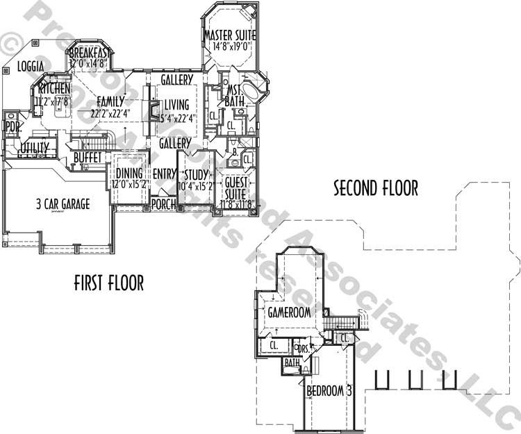 One Story House Plan C5184
