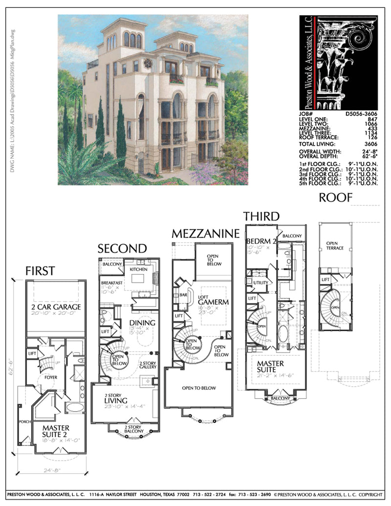 Townhomes Townhouse Floor Plans Urban Row House Plan