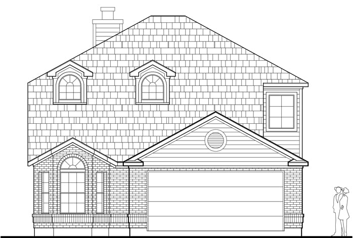 Two Story House Plan E0174