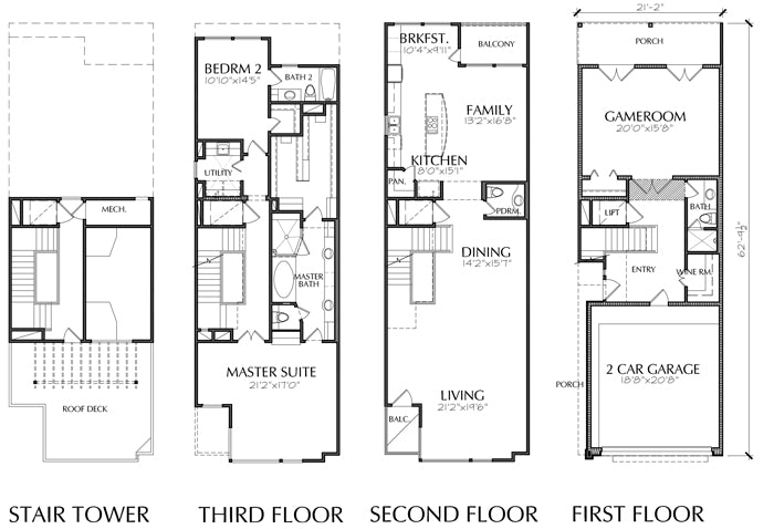 Townhouse Plan E2214