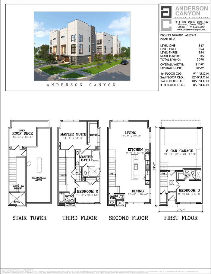 Townhouse Plan A0327 B1.2