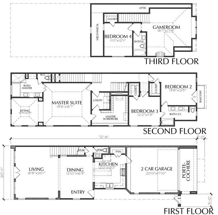 Townhouse Plan E2294 A1.1L