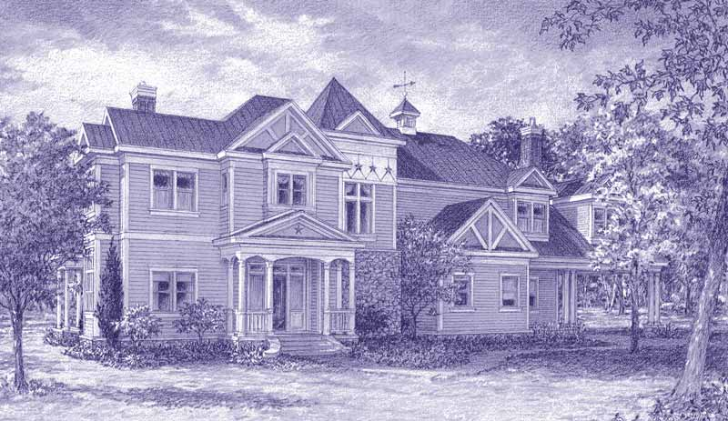 Victorian Style Home Plan C9298