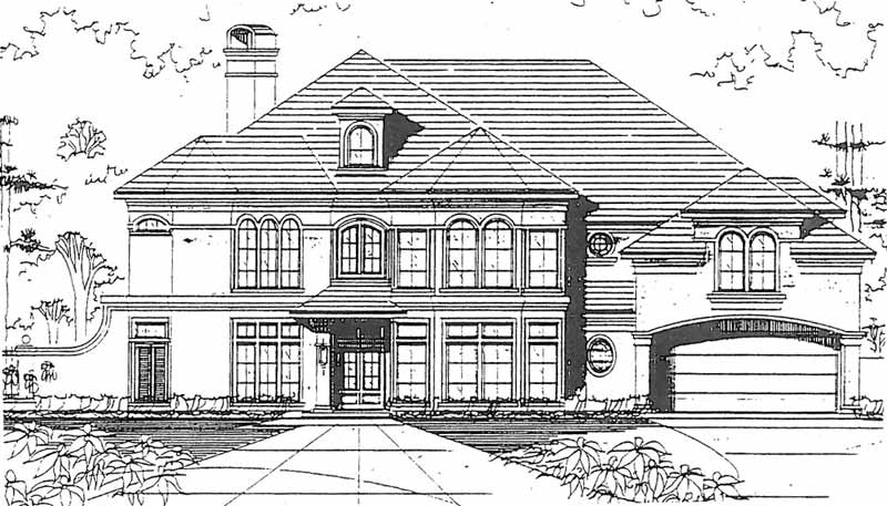 Two Story House Plan C5009