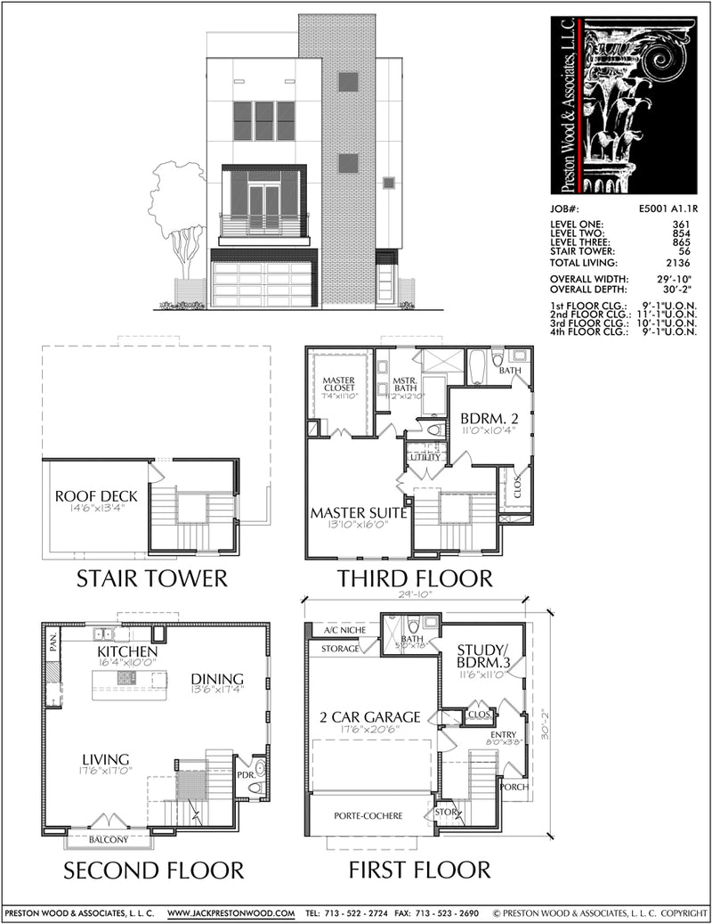 Townhouse Plan E5001 A1.1