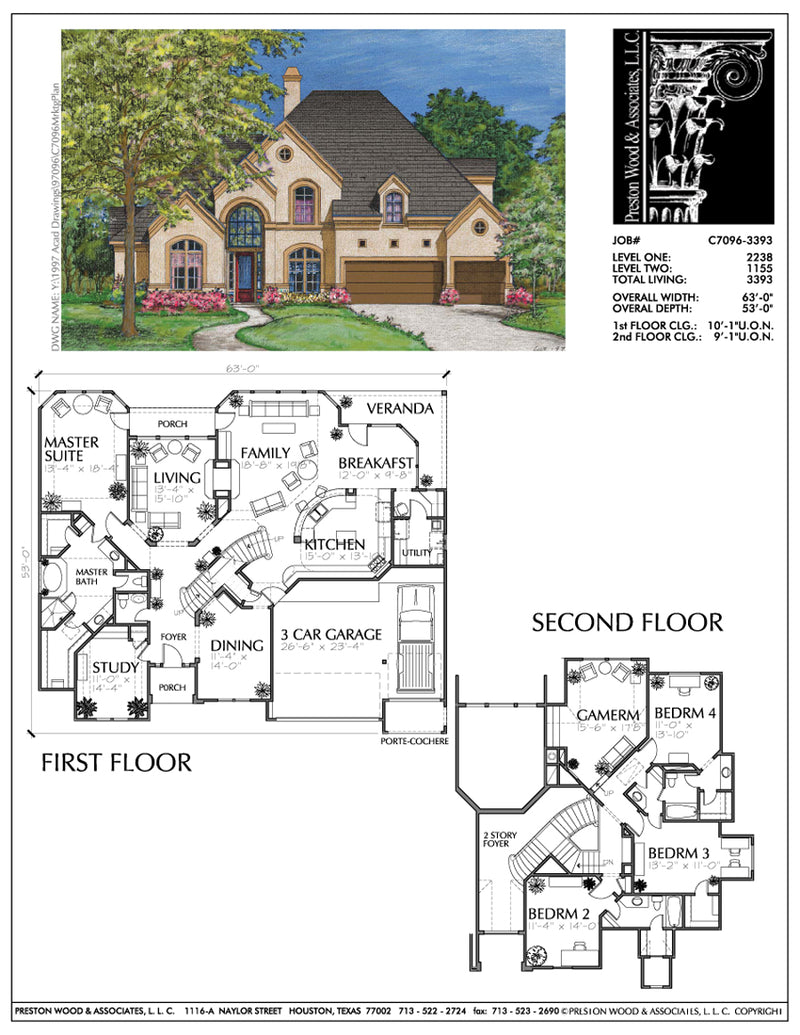 Two Story Home Plan bC7096