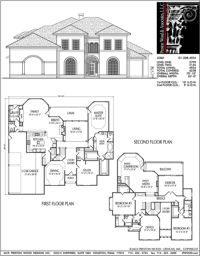 Two Story House Plan D1208
