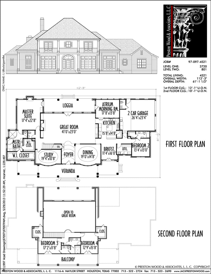 Two Story House Plan C7097