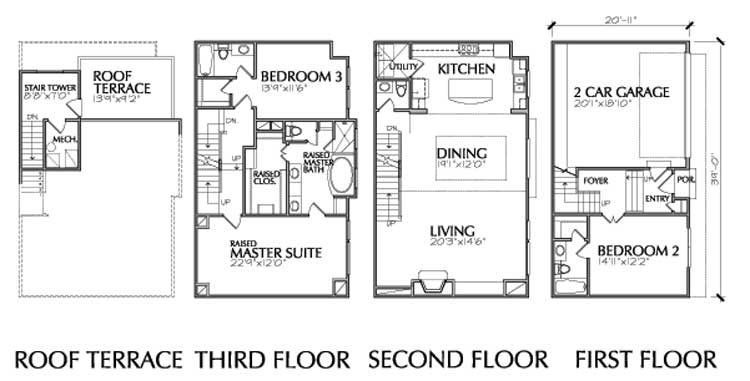 Townhouse Plan D7009 L2