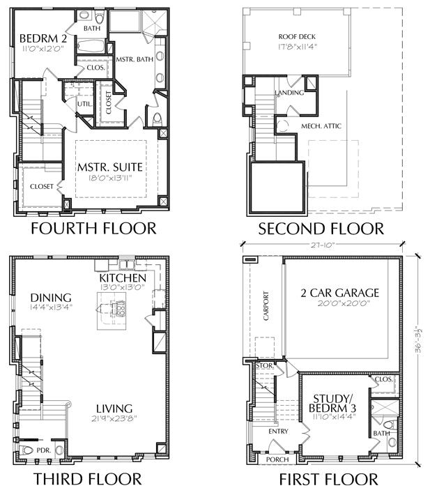 3 1/2 Story Townhouse Plan E1225 A1.1 Town House With Carport Design on house with sunroom designs, house plans with porte cochere, house with terrace designs, house with pool designs, house designs for narrow lots, house with garages, house structure design, house with porch designs, art deco house designs, house with shake siding and stone, house structure parts, house plans with carports, luxury ranch home designs, house balcony designs, house kitchen designs, small house designs, house with covered patio designs, house with loft designs, house plans with porches, house with attic designs,