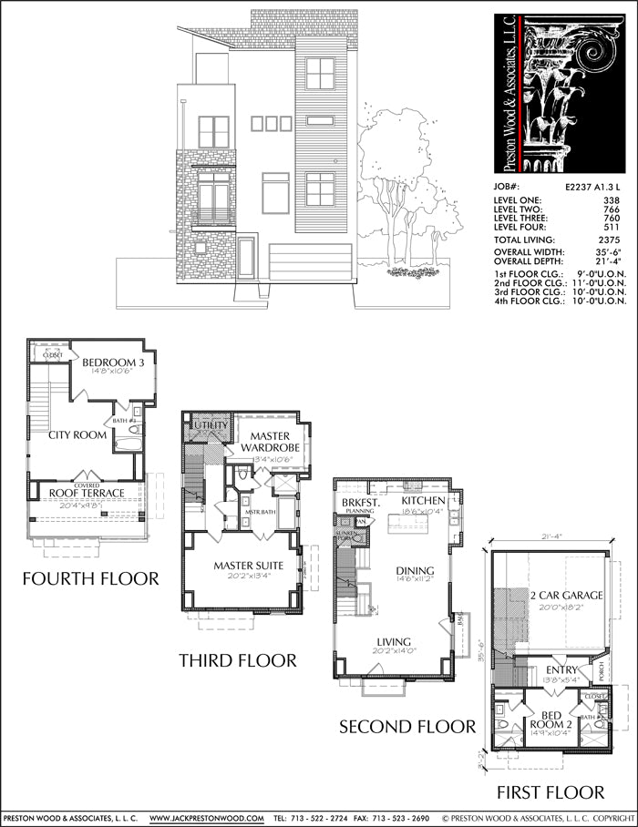 Townhouse Plan E2237 A1.3L