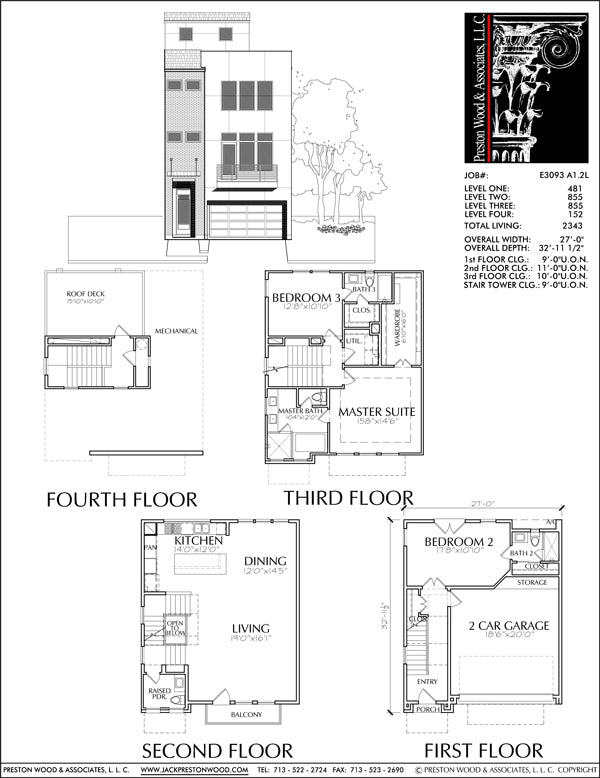 Townhouse Plan E3093 A1.2