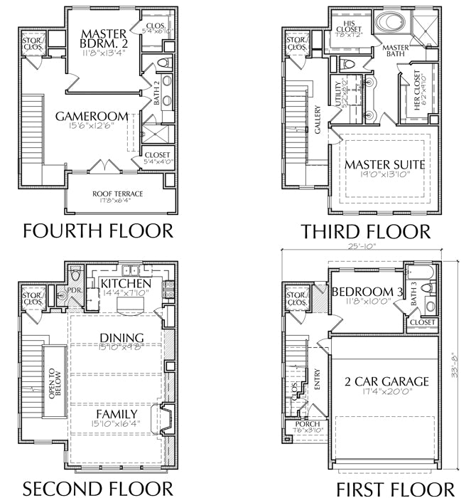 Townhouse Plan E6022