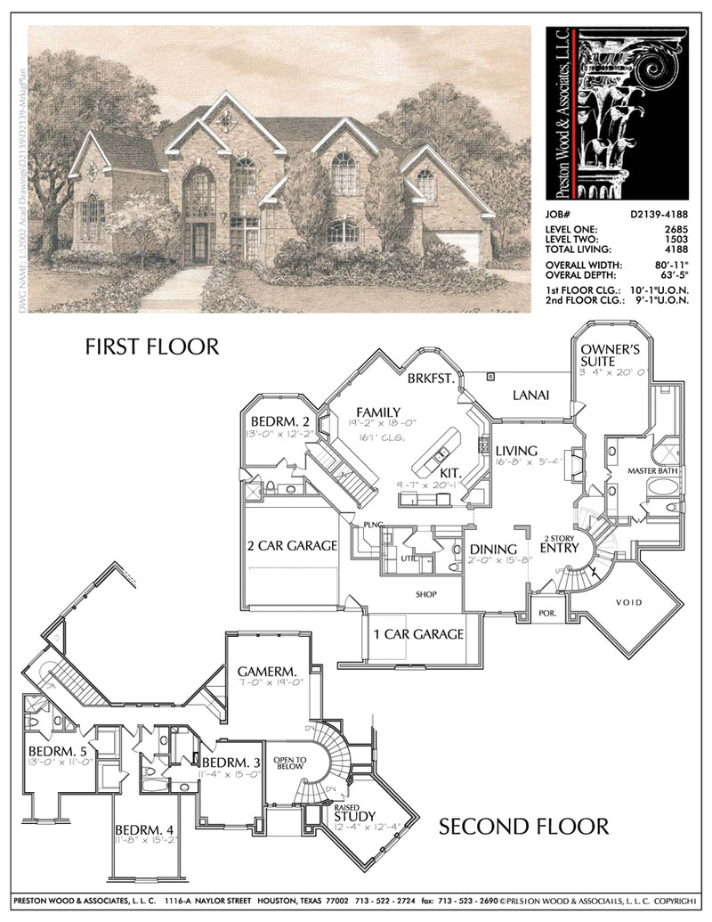 Two Story House Plan D2139