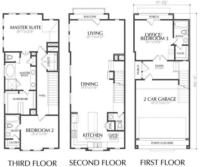 Townhouse Plan E0170 A1.1