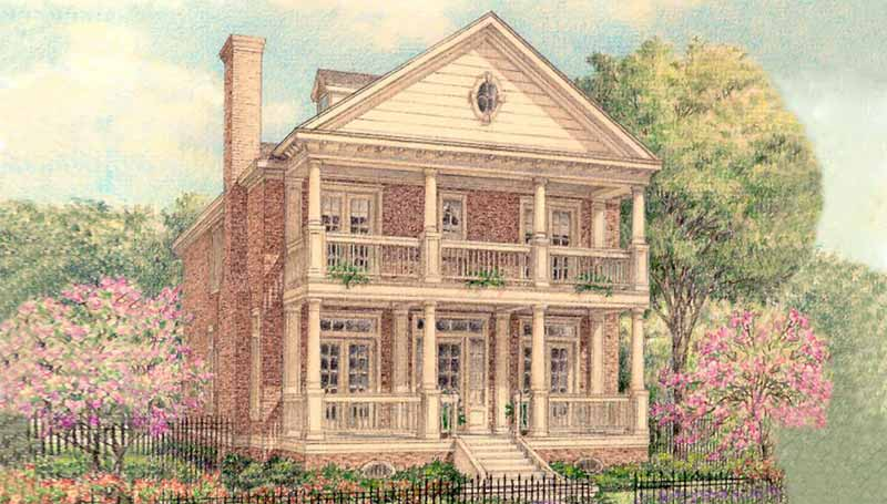Colonial Home Plan D0012